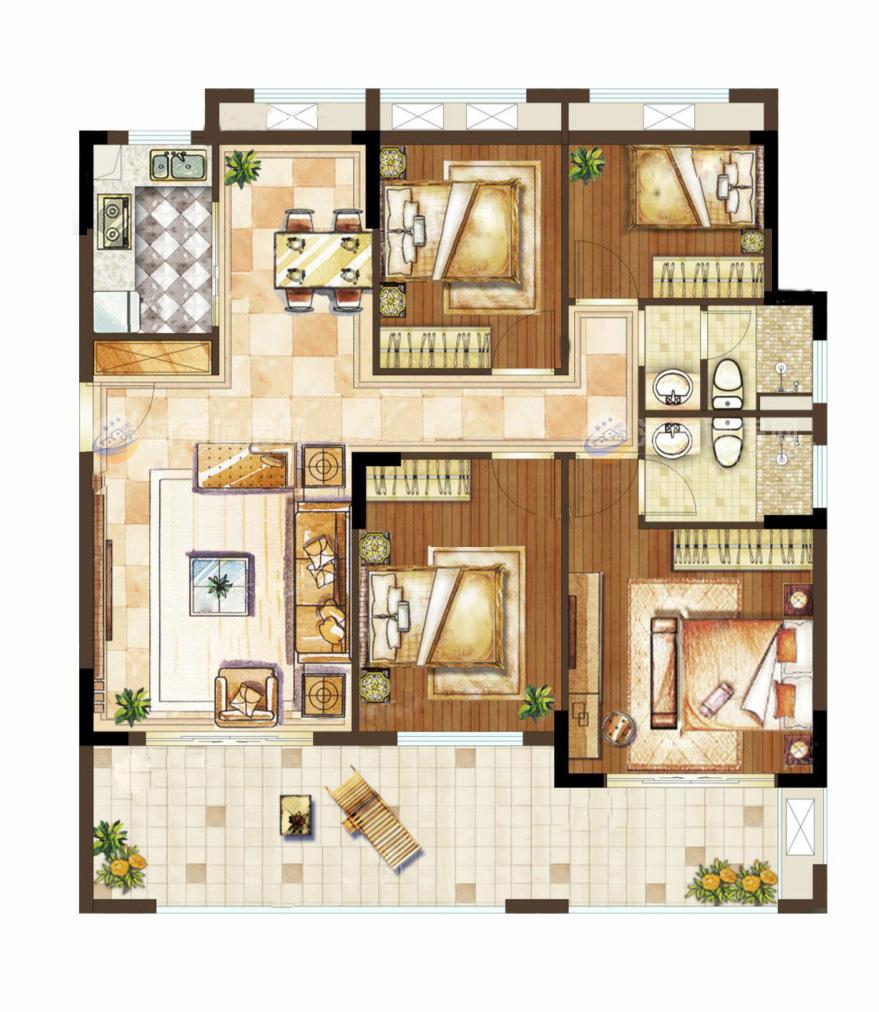 中南西海岸4室2廳1廚2衛