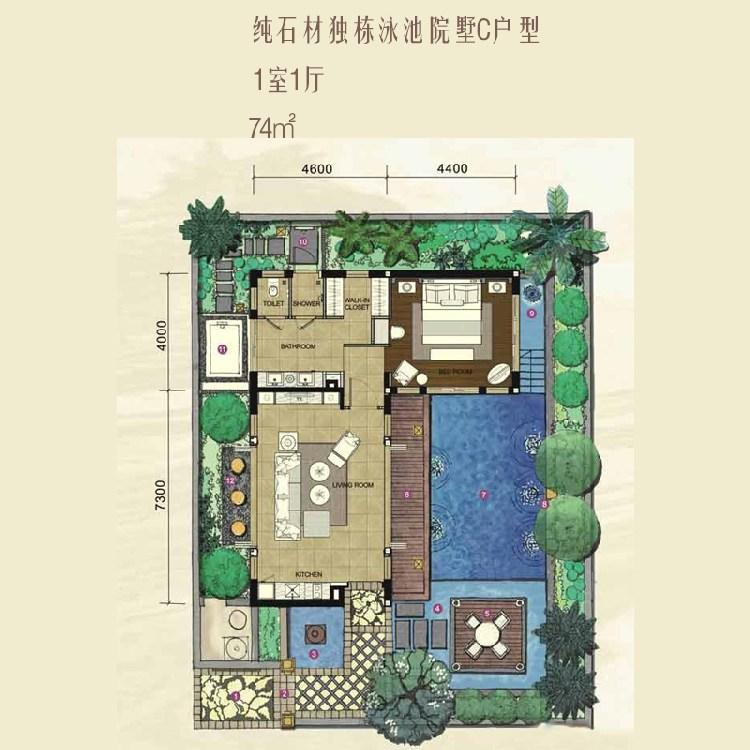 红磡香水湾天海1室1厅