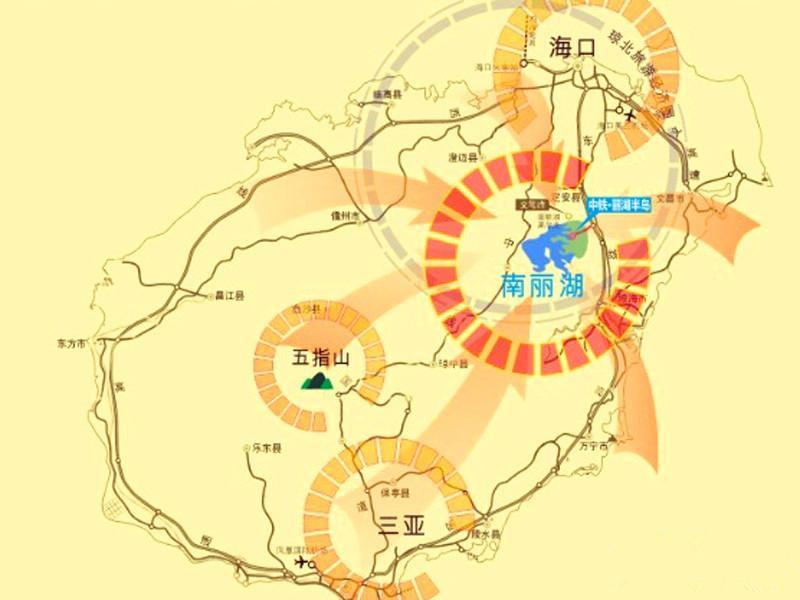 中铁诺德丽湖半岛交通图
