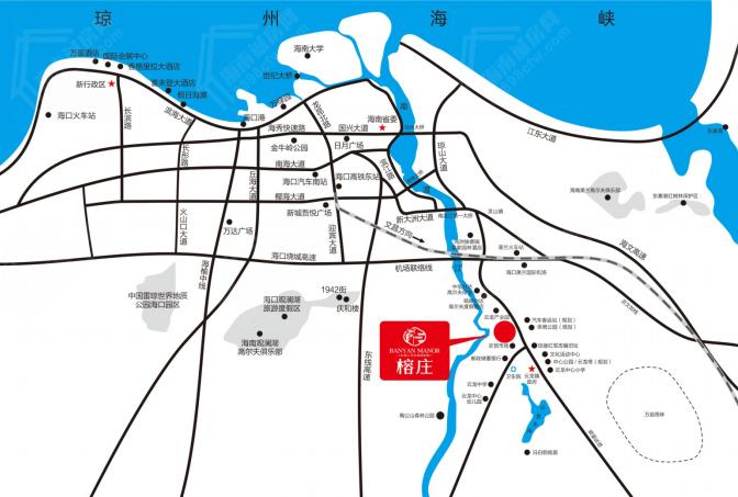 海口榕庄交通图