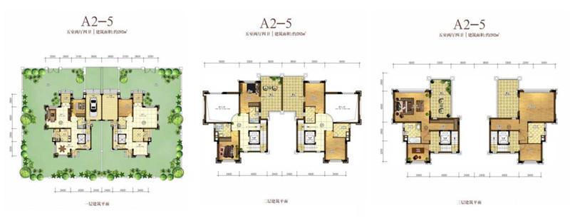 恒大海花岛5室2厅4卫 (建筑面积:282.00㎡)