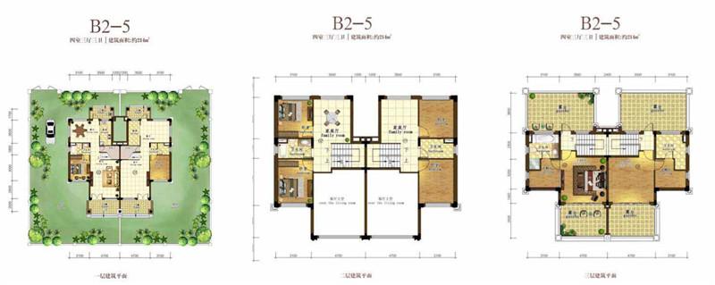 恒大海花岛4室3厅3卫 (建筑面积:214.00㎡)