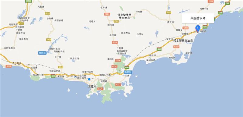 荣盛香水湾交通图