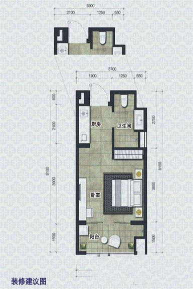 椰岛小城1室--厅1卫1厨 (建筑面积:36.00㎡)