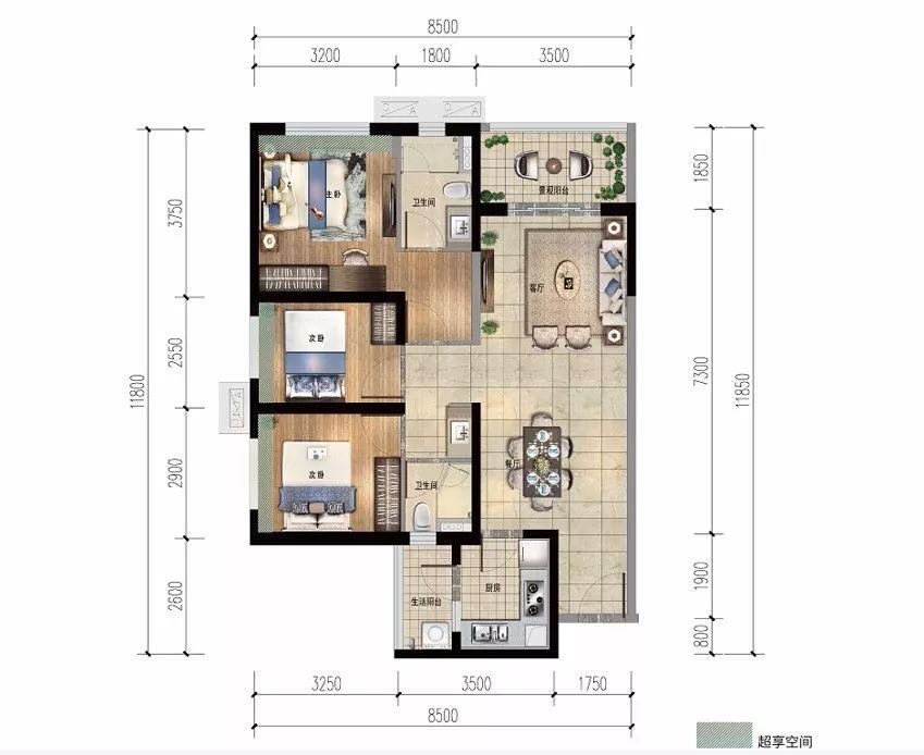 雅居乐金沙湾3房2厅2卫