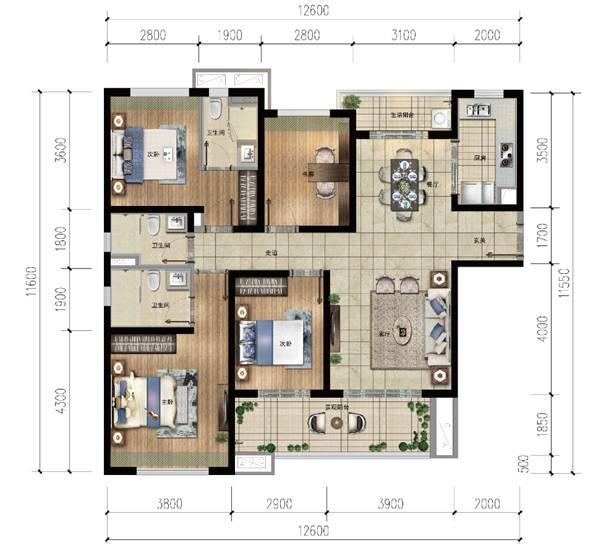 雅居乐金沙湾4房2厅3卫