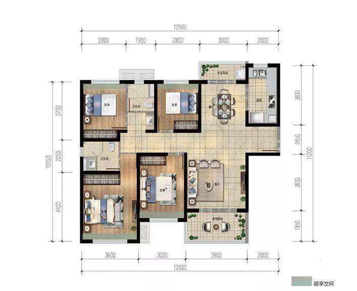 雅居乐金沙湾4房2厅2卫