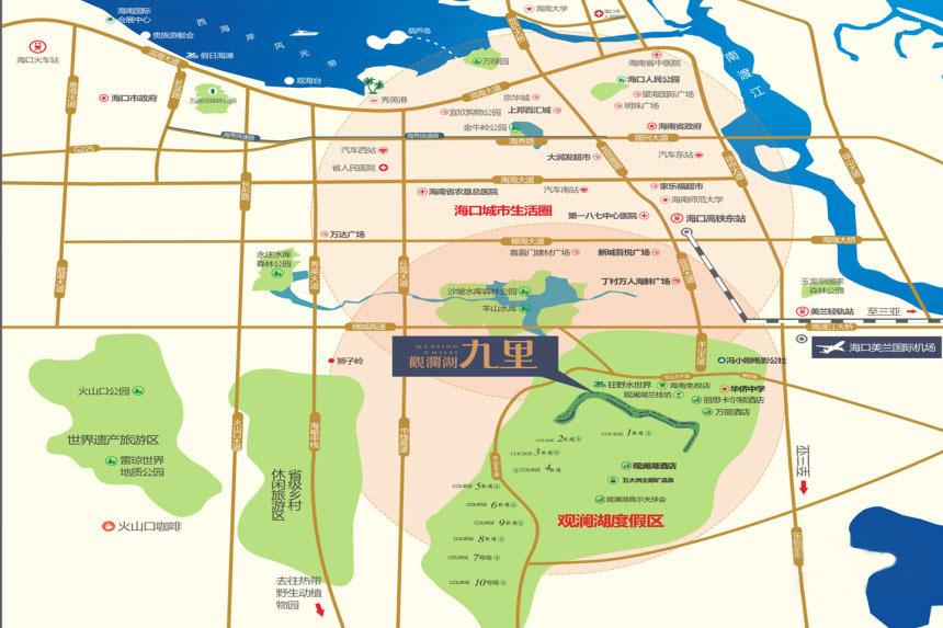 觀瀾湖九里交通圖