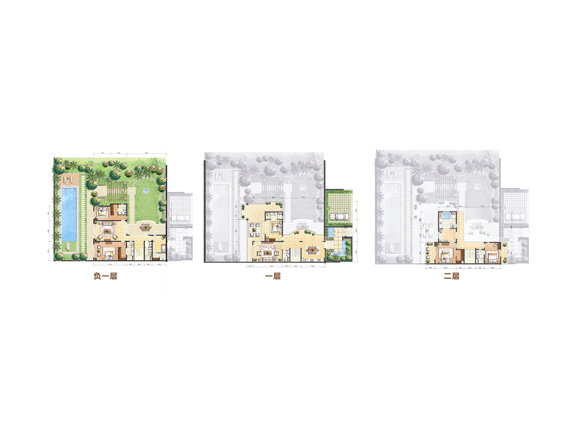 Aloha阿羅哈7房2廳8衛4庭院 (建筑面積:165.00㎡)