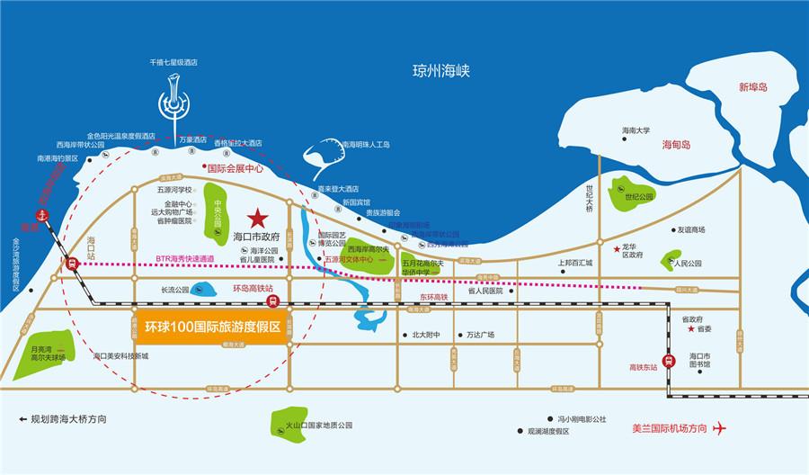 环球100宝龙城交通图