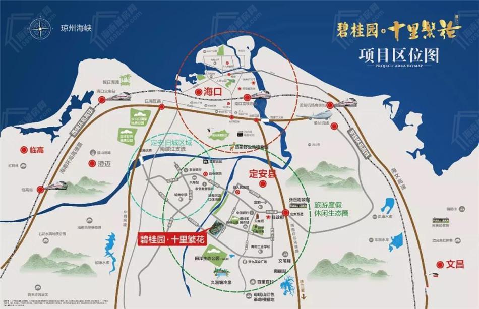 碧桂園十里繁花交通圖