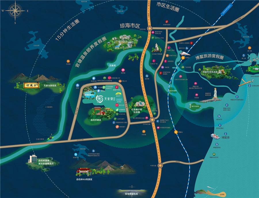 天来泉二期交通图