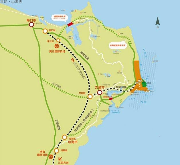 鲁能山海天交通图