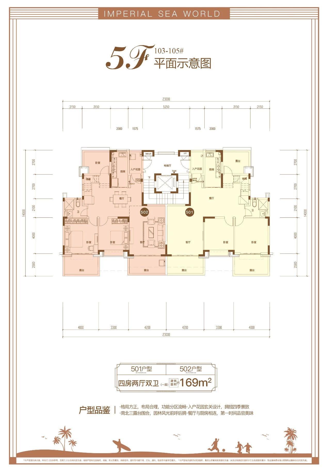 恒大御海天下4室2厅2卫 (建筑面积:169.00㎡)