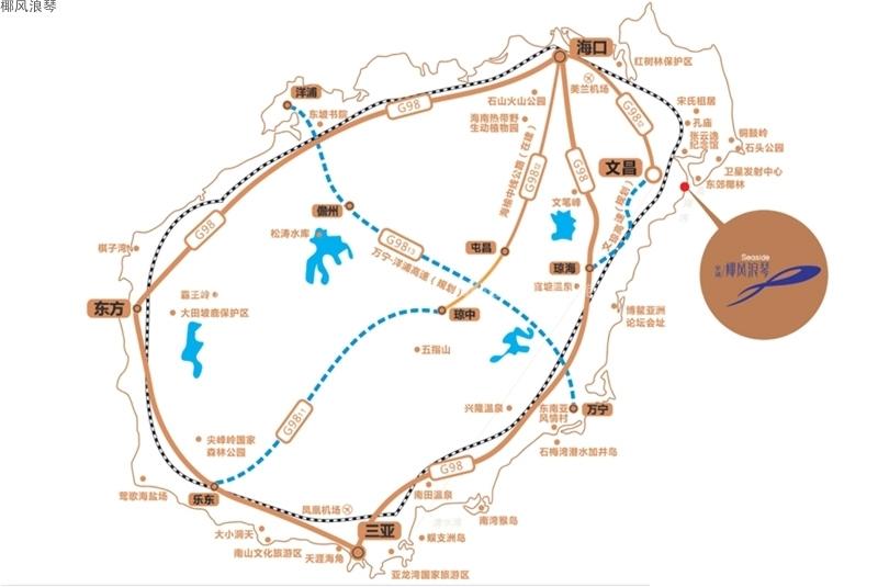 椰風浪琴交通圖