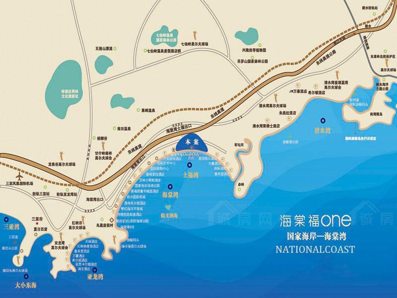三亚葛洲坝海棠福湾交通图