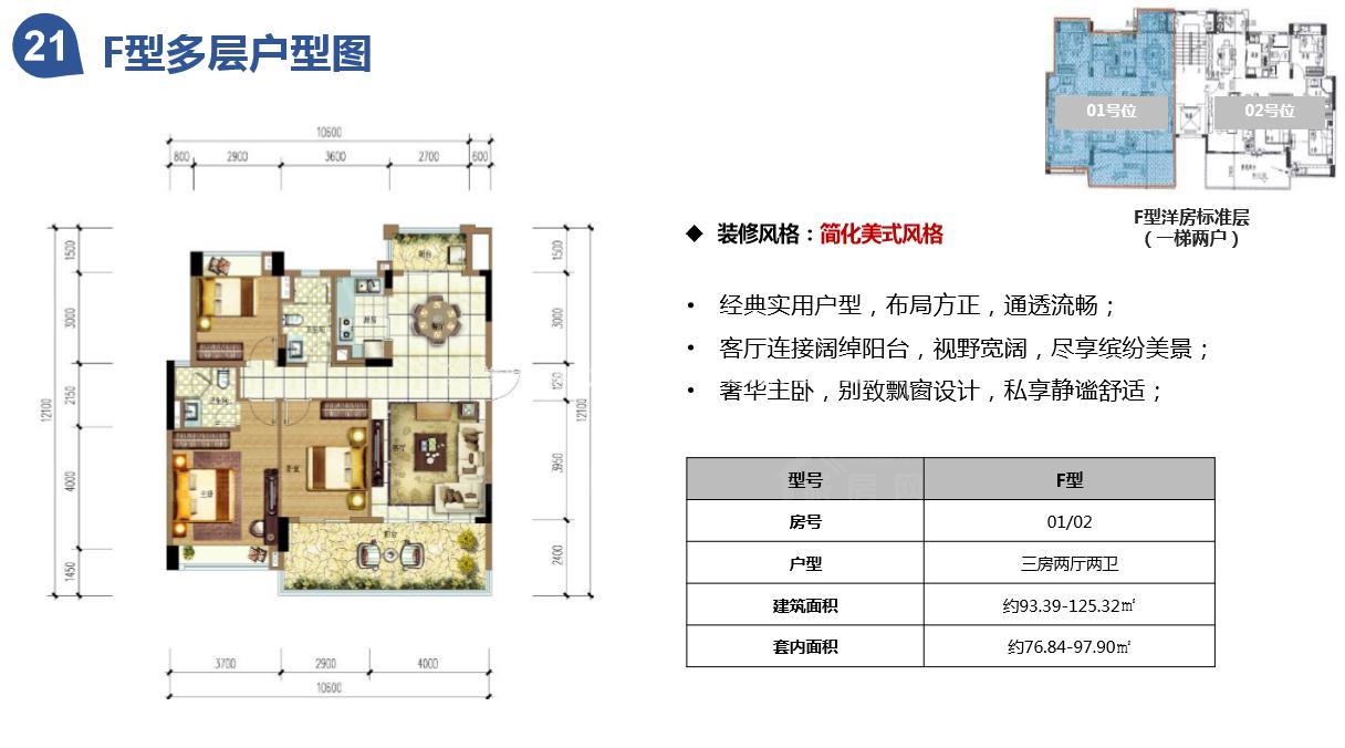 雅居乐云海泽月3室2厅2卫 (建筑面积:125.00㎡)