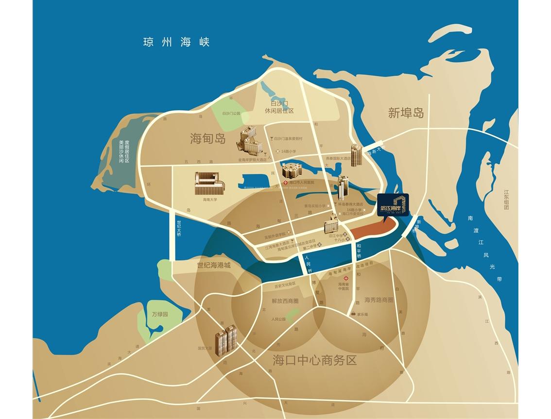 碧桂园滨江海岸交通图