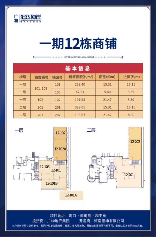 碧桂园滨江海岸12栋商铺 (建筑面积:0.00㎡)