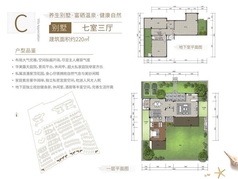 国安海岸7室3厅1卫 (建筑面积:220.00㎡)