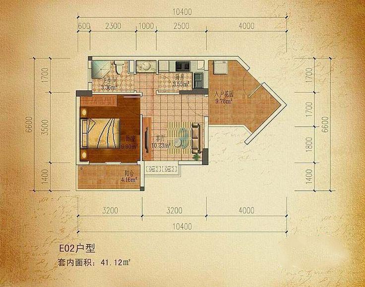 东方碧海云天1室1厅1卫1厨