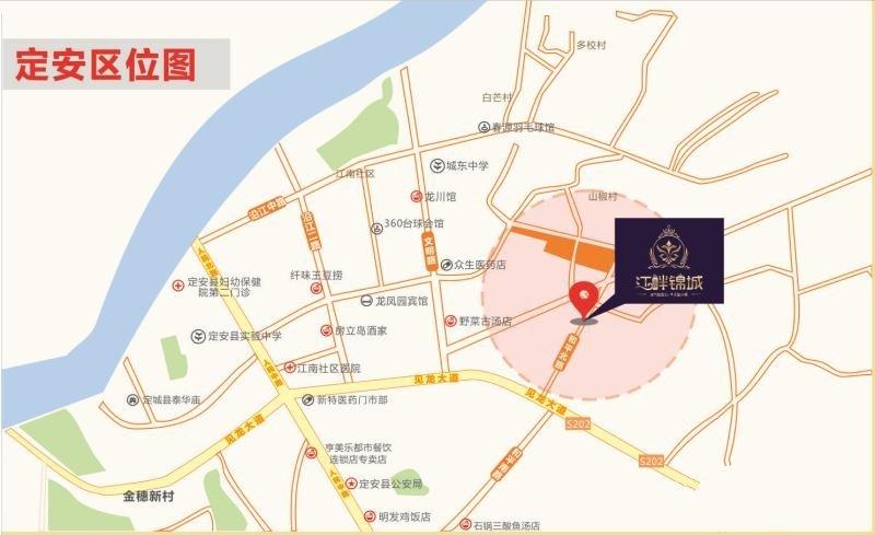 江畔锦城交通图