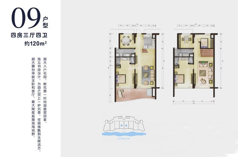 龙栖湾波波利海岸4室3厅4卫
