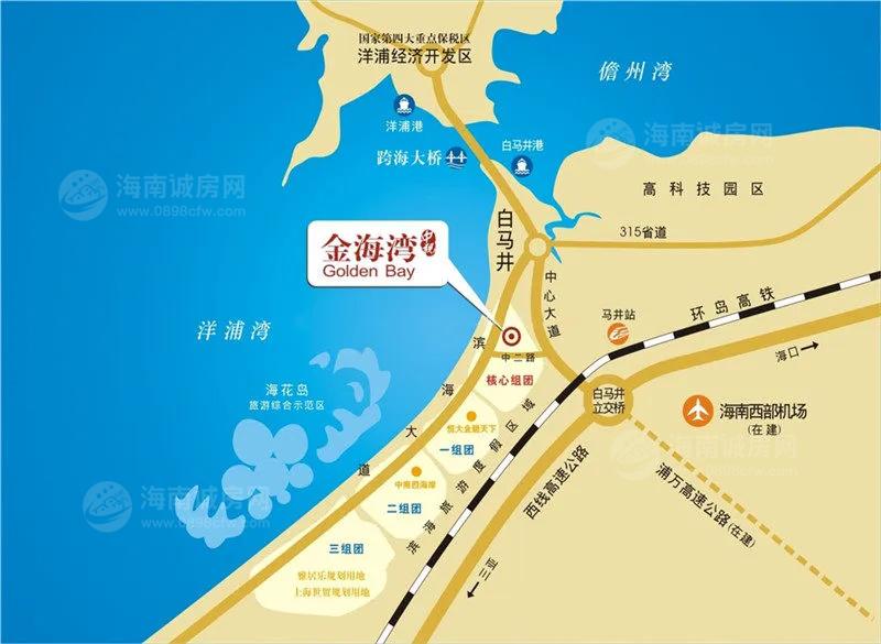 中视金海湾交通图