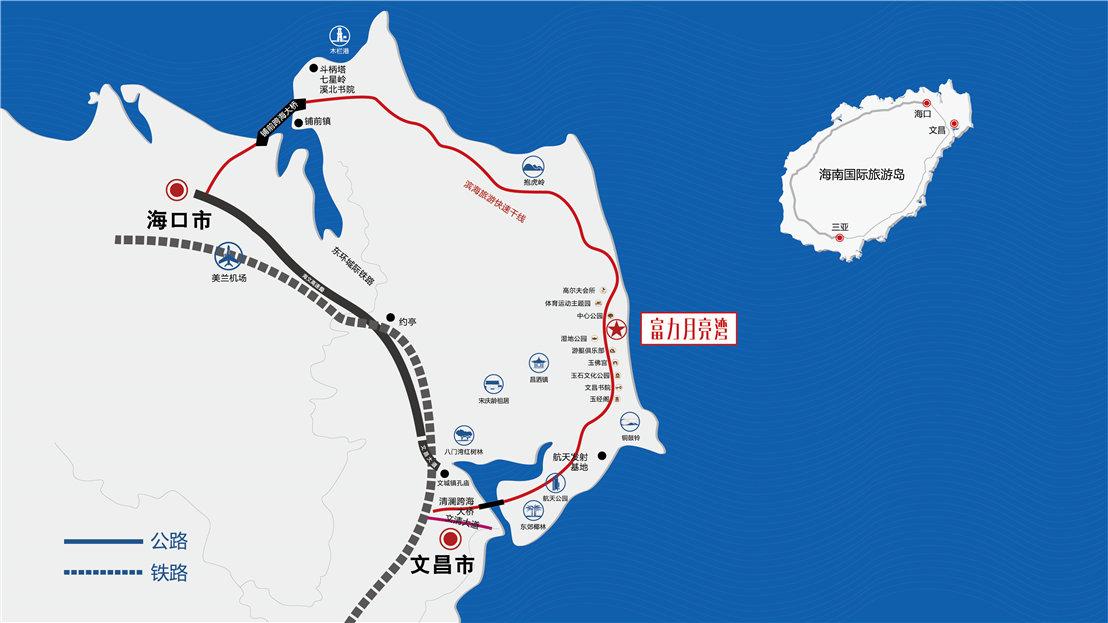 富力月亮湾交通图
