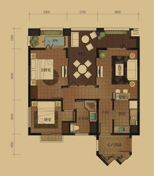 国信龙沐湾2室1厅1卫1厨
