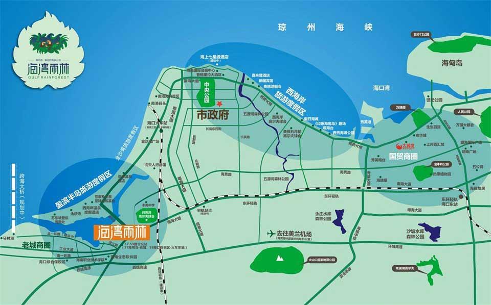 海湾雨林交通图