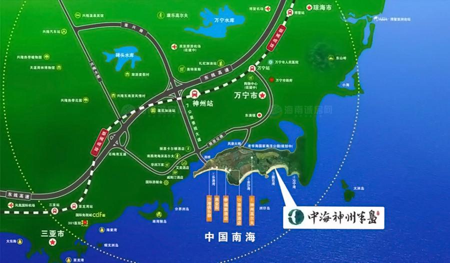 中海神州半島交通圖