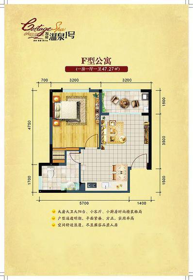 海南温泉1号1室1厅1卫1厨