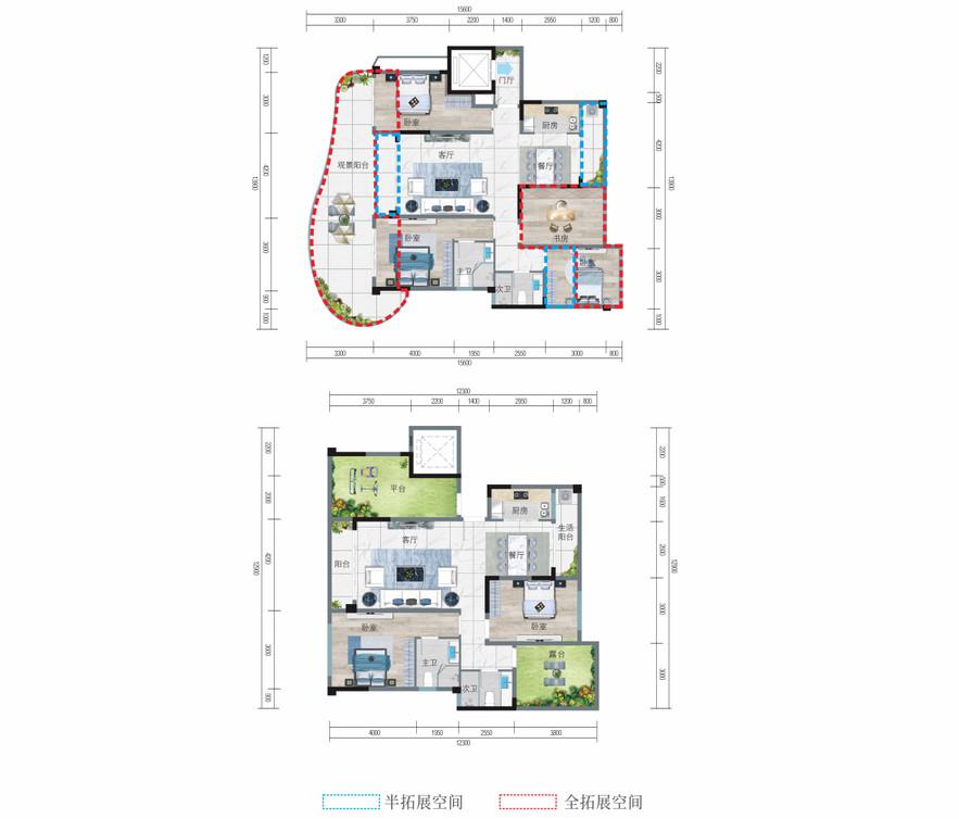清鳳椰林陽光6室4廳4衛樓頂花園