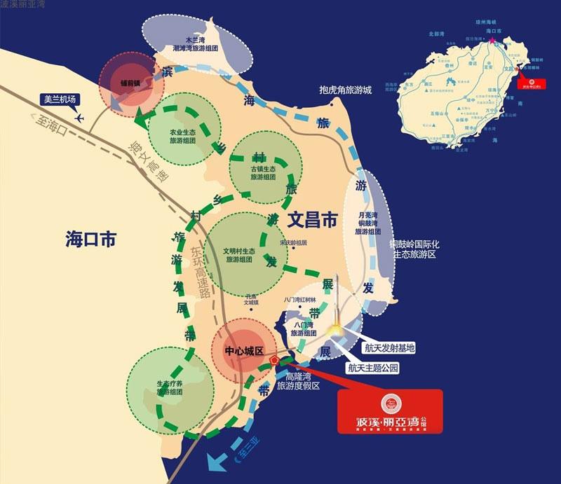 波溪丽亚湾交通图