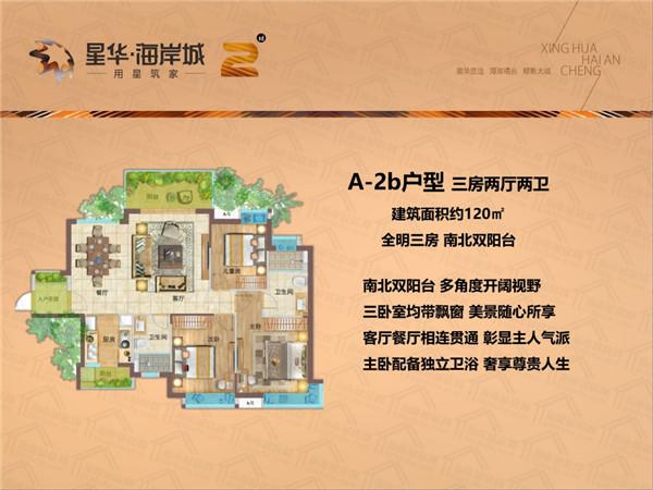 星华海岸城3室2厅2卫 (建筑面积:120.00㎡)