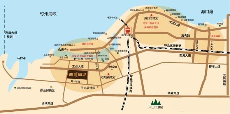 藏龙福地交通图