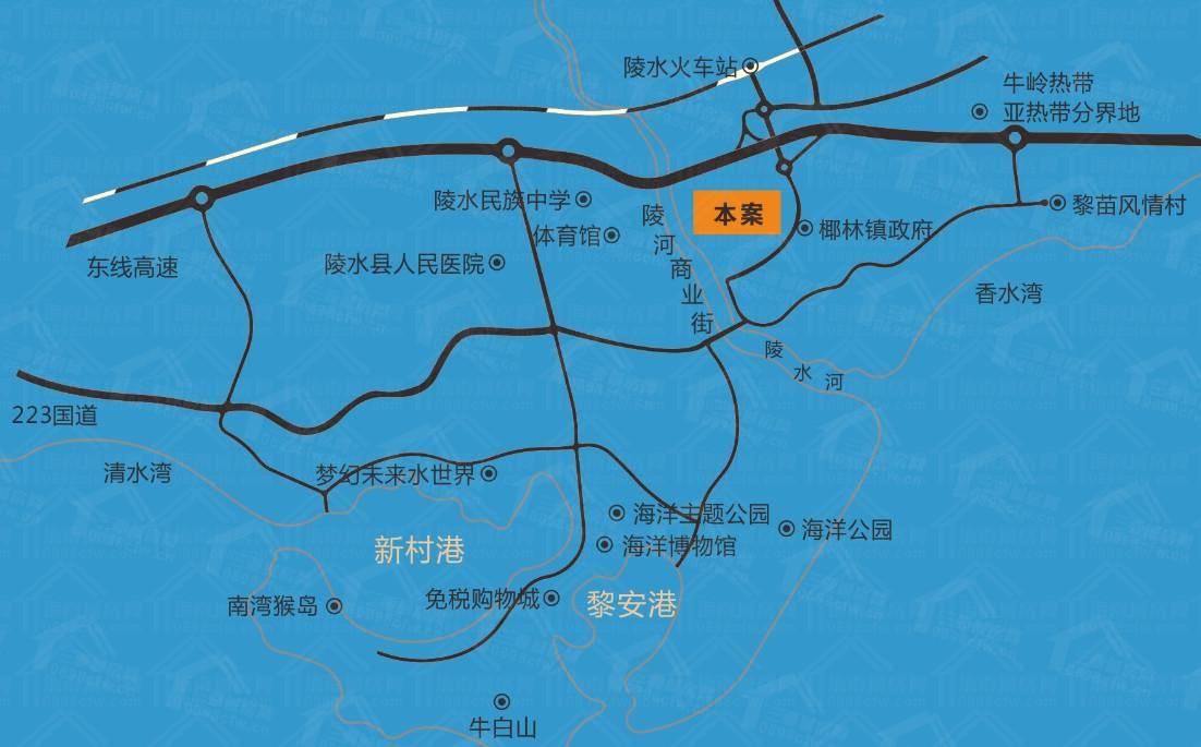 椰林润达御园交通图