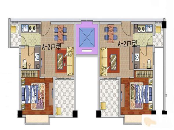 天长椰风水韵1室1厅1卫1厨2阳台 (建筑面积:45.00㎡)