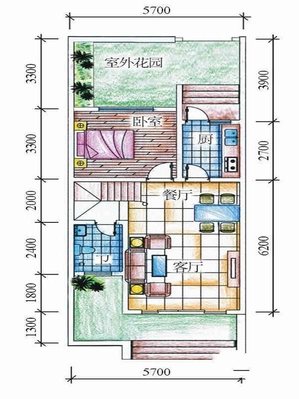 天来泉二期3室2厅2卫1厨 (建筑面积:86.00㎡)