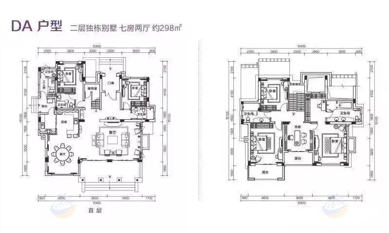 富力盈溪谷7房2廳 (建筑面積:298.00㎡)