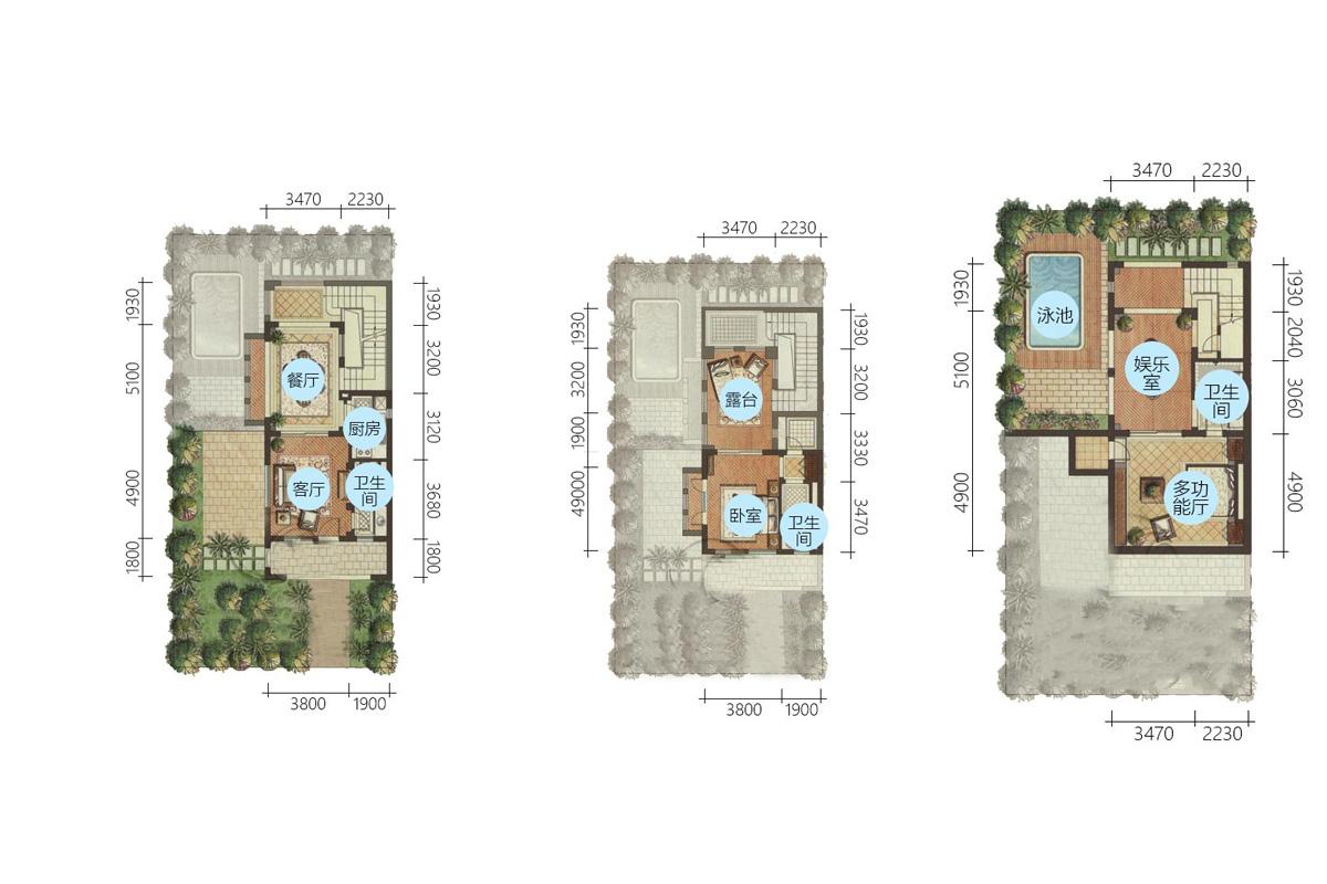 Aloha阿羅哈2房3廳1廚3衛 (建筑面積:80.00㎡)