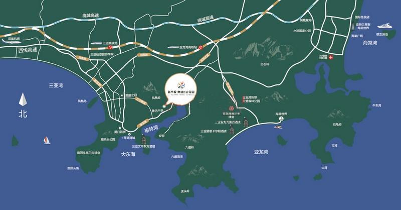 新华联奥林匹克花园交通图