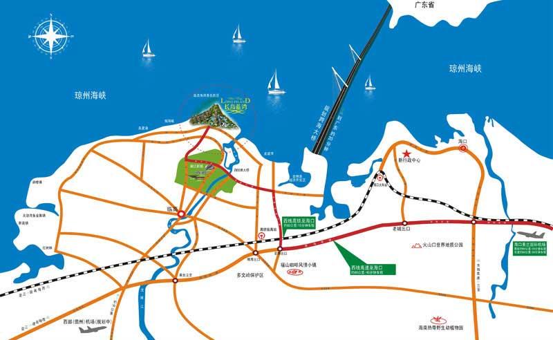 长岛蓝湾交通图