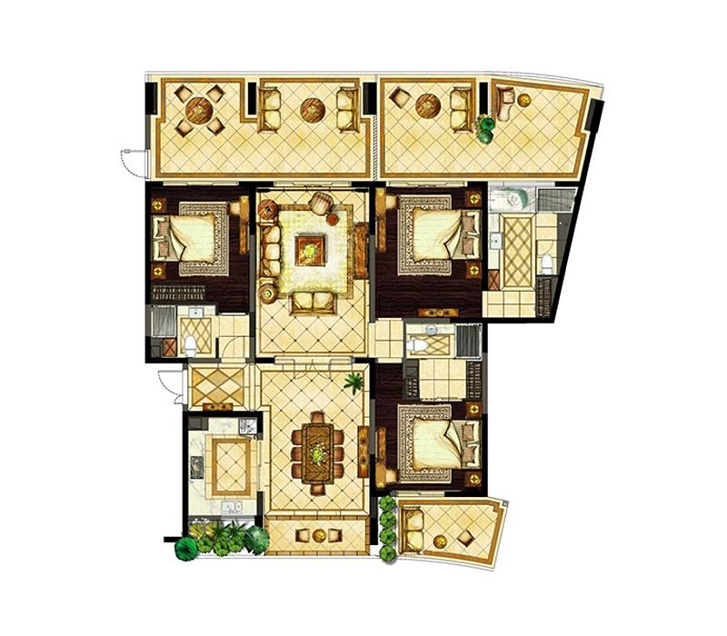 半山半島3室2廳3衛1廚