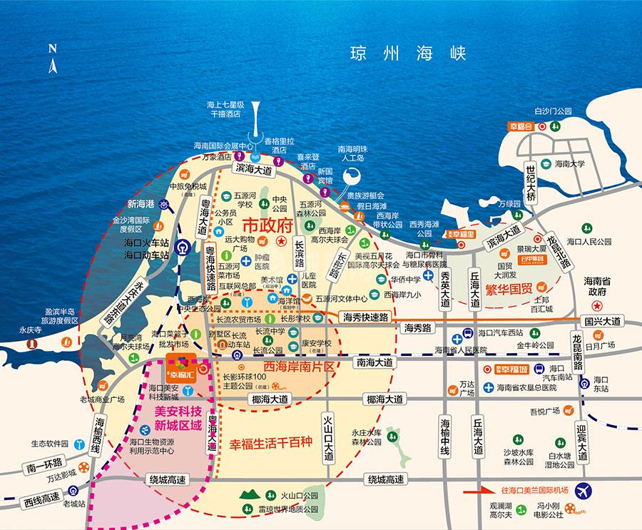 南海幸福汇交通图