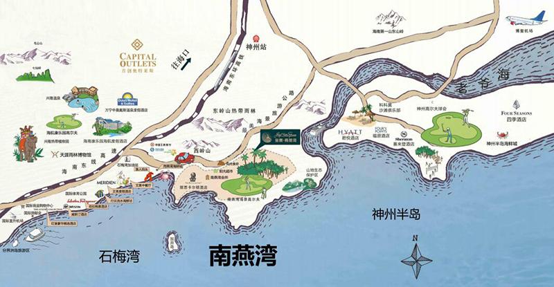 金泰南燕灣交通圖