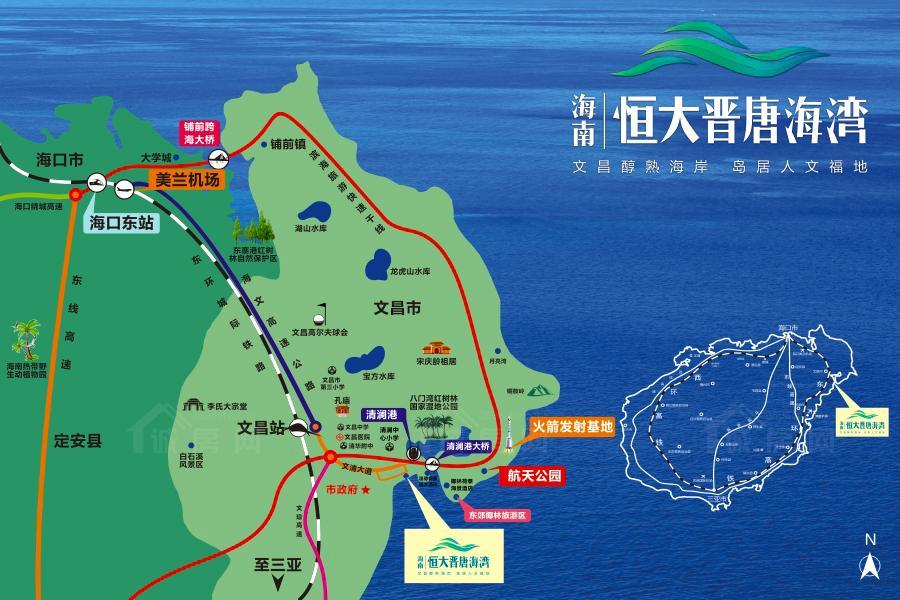 恒大晋唐海湾交通图