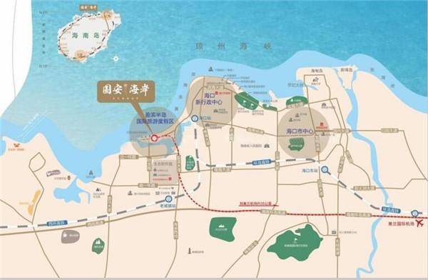 国安海岸交通图