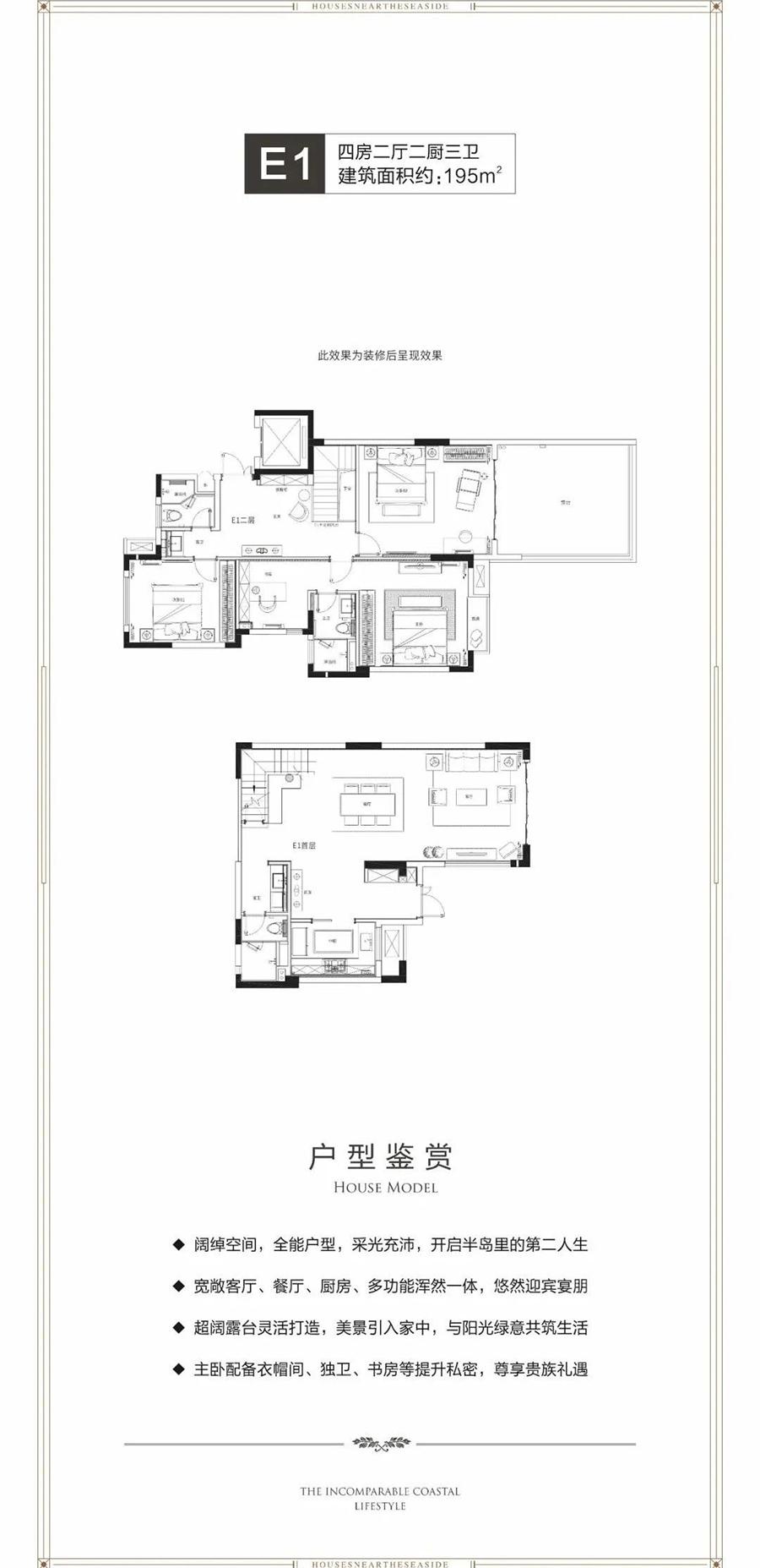 天赐上湾4房2厅1厨3卫 (建筑面积:195.00㎡)